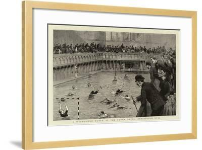 A Water-Polo Match at the Crown Baths, Kennington Oval--Framed Giclee Print
