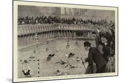 A Water-Polo Match at the Crown Baths, Kennington Oval--Mounted Giclee Print