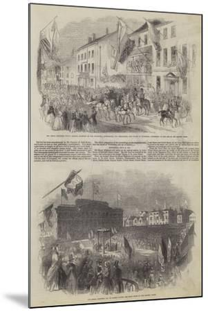 His Royal Highness Prince Albert's Visit to Liverpool--Mounted Giclee Print