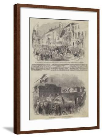 His Royal Highness Prince Albert's Visit to Liverpool--Framed Giclee Print