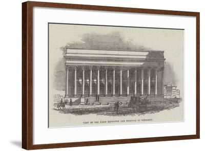 View of the Paris Exchange and Tribunal of Commerce--Framed Giclee Print