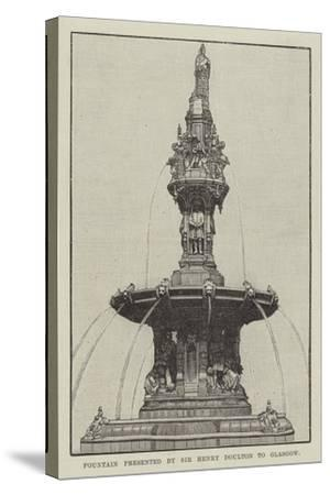 Fountain Presented by Sir Henry Doulton to Glasgow--Stretched Canvas Print