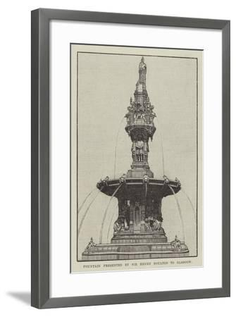 Fountain Presented by Sir Henry Doulton to Glasgow--Framed Giclee Print