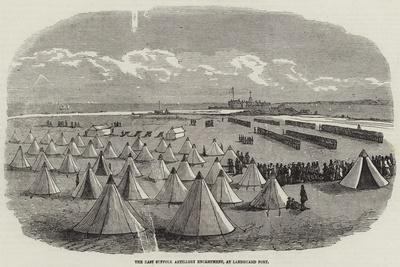 The East Suffolk Artillery Encampment, at Landguard Fort--Framed Giclee Print