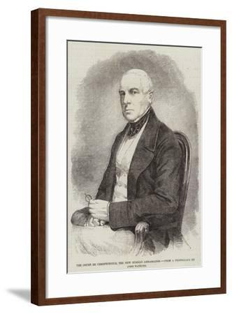 The Count De Chreptowitch, the New Russian Ambassador--Framed Giclee Print