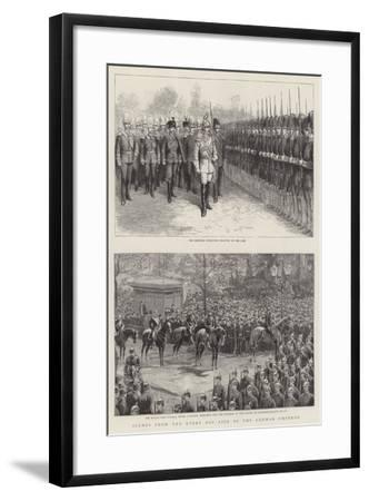 Scenes from the Every Day Life of the German Emperor--Framed Giclee Print