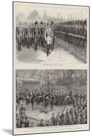 Scenes from the Every Day Life of the German Emperor--Mounted Giclee Print