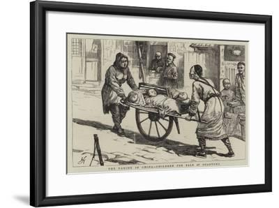 The Famine in China, Children for Sale at Shantung--Framed Giclee Print