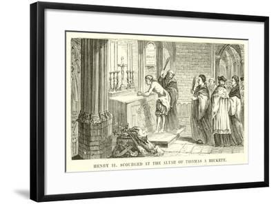 King Henry II Scourged at the Altar of Thomas a Beckett--Framed Giclee Print