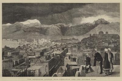The Impending Afghan War, Peshawur and the Khyber Pass--Framed Giclee Print