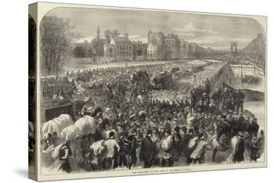 The Capitulation of Paris Scene on the Bridge of Neuilly--Stretched Canvas Print