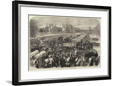 The Capitulation of Paris Scene on the Bridge of Neuilly--Framed Giclee Print