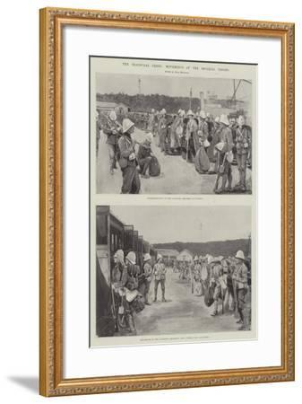 The Transvaal Crisis, Movements of the Imperial Troops--Framed Giclee Print