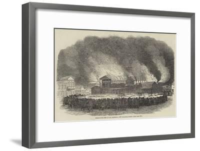 Destructive Fire at San Francisco, 400 Buildings Burnt--Framed Giclee Print