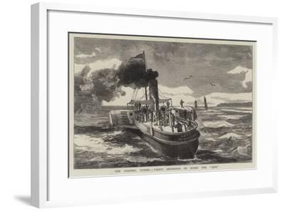 The Channel Tunnel, Taking Soundings on Board the Ajax--Framed Giclee Print