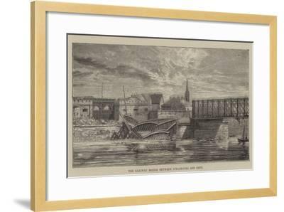 The Railway Bridge Between Strasbourg and Kehl--Framed Giclee Print