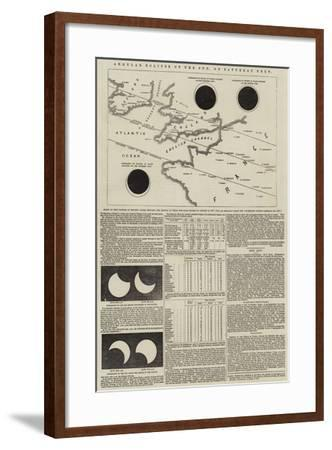 Annular Eclipse of the Sun, on Saturday Next--Framed Giclee Print