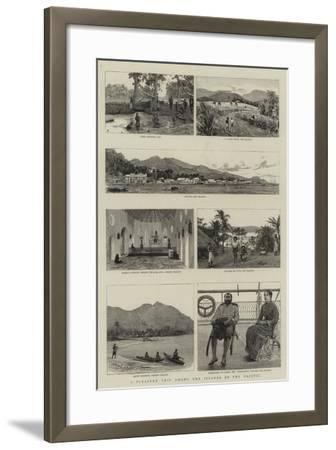 A Pleasure Trip Among the Islands of the Pacific--Framed Giclee Print