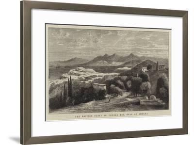 The British Fleet in Vourla Bay, Gulf of Smyrna--Framed Giclee Print