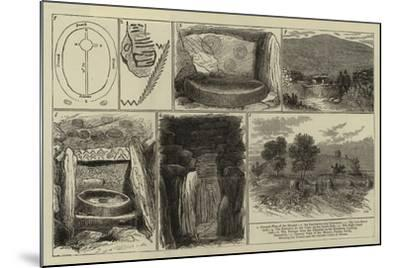 Ancient Sepulchral Mound Near Drogheda, Ireland--Mounted Giclee Print
