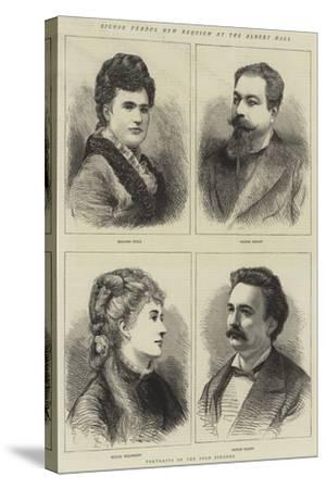 Signor Verdi's New Requiem at the Albert Hall--Stretched Canvas Print