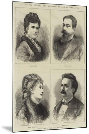 Signor Verdi's New Requiem at the Albert Hall--Mounted Giclee Print