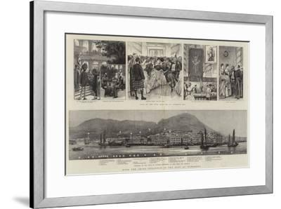 With the China Squadron in the East, at Hongkong--Framed Giclee Print
