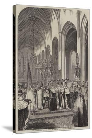 The Coronation of the King of Sweden and Norway--Stretched Canvas Print