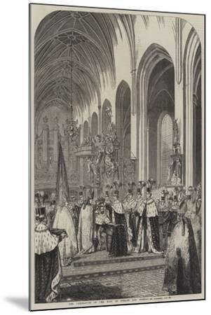 The Coronation of the King of Sweden and Norway--Mounted Giclee Print