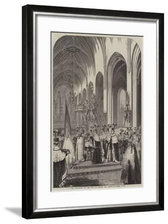 The Coronation of the King of Sweden and Norway--Framed Giclee Print
