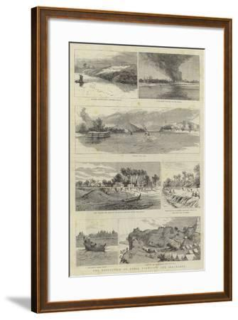 The Expedition to Upper Burma, Up the Irrawaddy--Framed Giclee Print