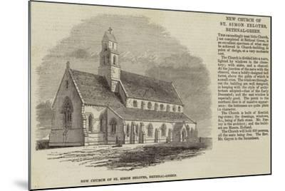 New Church of St Simon Zelotes, Bethnal-Green--Mounted Giclee Print