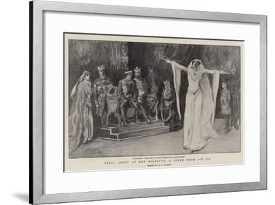 King John at Her Majesty'S, a Scene from Act III--Framed Giclee Print