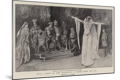 King John at Her Majesty'S, a Scene from Act III--Mounted Giclee Print