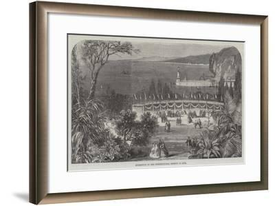 Exhibition of the Horticultural Society at Nice--Framed Giclee Print