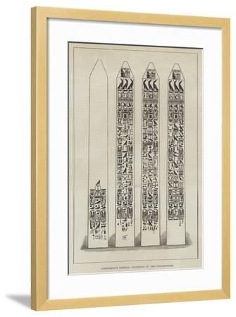 Cleopatra's Needle, Facsimile of the Inscriptions--Framed Giclee Print