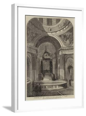 Interior of the Church of the Invalides, at Paris--Framed Giclee Print