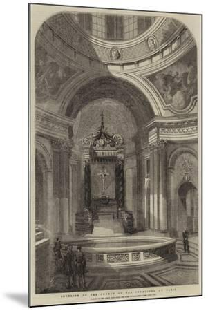 Interior of the Church of the Invalides, at Paris--Mounted Giclee Print