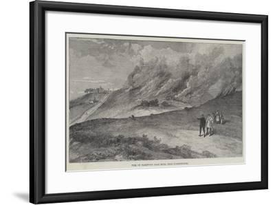 Fire on Harewood Dale Moor, Near Scarborough--Framed Giclee Print
