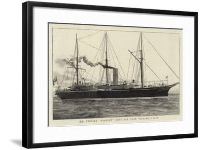 H M Cruiser Serpent Lost Off Cape Villano, Spain--Framed Giclee Print