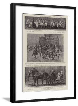 Principal Events in the Life of the Late Czar--Framed Giclee Print