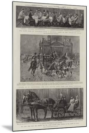 Principal Events in the Life of the Late Czar--Mounted Giclee Print
