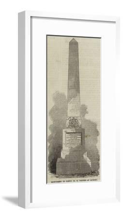Monument to Lieutenant H E Baines at Quebec--Framed Giclee Print