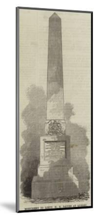 Monument to Lieutenant H E Baines at Quebec--Mounted Giclee Print