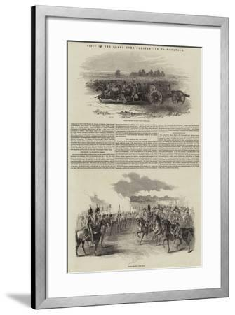 Visit of the Grand Duke Constantine to Woolwich--Framed Giclee Print
