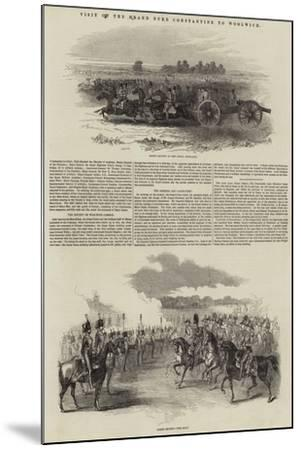Visit of the Grand Duke Constantine to Woolwich--Mounted Giclee Print