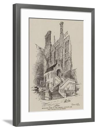 Entrance Porch to the Library, Lincoln's Inn--Framed Giclee Print