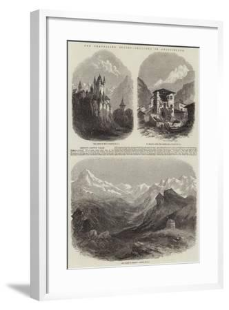 The Travelling Season, Sketches in Switzerland--Framed Giclee Print