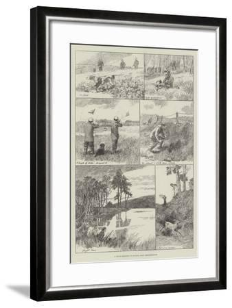 A Day's Shooting in Buchan, East Aberdeenshire--Framed Giclee Print