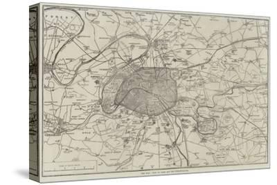 The War, Plan of Paris and the Fortifications--Stretched Canvas Print